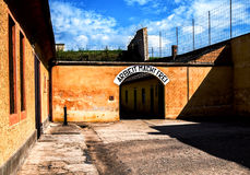Terezin memorial. Terezin fort entry. Memorial to the Holocaust. Small fortress, Terezin, Czech Republic. Part of memorial monument of the Jewish ghetto which Royalty Free Stock Photo