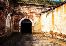 Terezin memorial. Terezin fort entry. Memorial to the Holocaust. Small fortress, Terezin, Czech Republic. Part of memorial monument of the Jewish ghetto which Royalty Free Stock Image