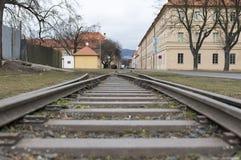 Terezin memorial railway Stock Image