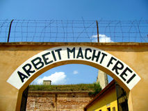 Terezin Small Fotress. Arbeit macht Frei in gestapo prison Royalty Free Stock Photography