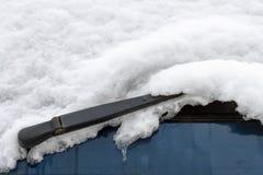 Tergicristallo di Snowy Fotografia Stock Libera da Diritti