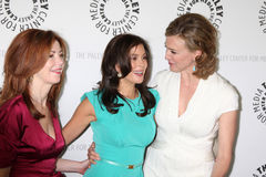 Teri Hatcher,DESPERATE HOUSEWIVES,Dana Delany,Brenda Strong. Dana Delany, Teri Hatcher, and Brenda Strong arriving at the Desperate Housewives PaleyFest09 event Royalty Free Stock Image