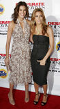 Teri Hatcher e Eva Longoria immagini stock