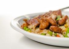 Teriyaki与菜的猪肉米 库存照片