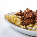 Teriyaki牛肉和面条 库存图片