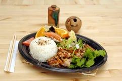 teriyaki πιάτων κοτόπουλου στοκ εικόνες με δικαίωμα ελεύθερης χρήσης