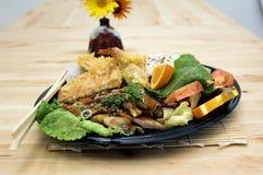 teriyaki плиты цыпленка комбинированное стоковая фотография rf