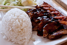 Teriyaki. With rice and chiken Stock Photography