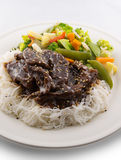 Teriyaki beef meal Royalty Free Stock Photo