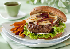 Teriyaki Burger Stock Photos