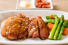 teriyaki chiciken steak royalty free stock images