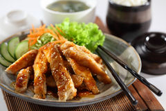 Teriyaki Chicken. One of the best Japanese chicken dishes Royalty Free Stock Images