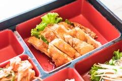 teriyaki chicken bento set Stock Photo