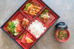 teriyaki chicken bento set Stock Photos