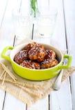 Teriyaki chicken meatballs Stock Photos