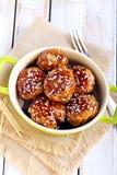 Teriyaki chicken meatballs Stock Photo
