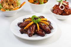 Teriyaki Chicken Midwing. Teriyaki chicken mid wing on a plate Stock Photo