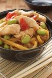 Teriyaki Chicken Noodles Royalty Free Stock Photos