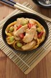 Teriyaki Chicken Noodles Stock Photography
