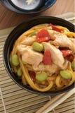 Teriyaki Chicken Noodles Stock Image