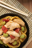 Teriyaki Chicken Noodles Stock Image