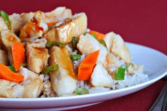 Teriyaki chicken rice Royalty Free Stock Photography
