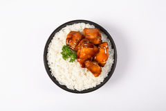 Teriyaki chicken  rice Royalty Free Stock Photo