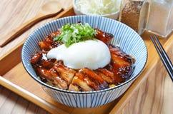 Teriyaki chicken rice bowl Stock Image
