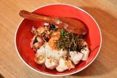Teriyaki chicken rice bowl Stock Photo