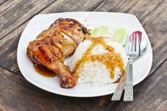 Teriyaki chicken rice Royalty Free Stock Images