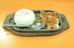Teriyaki chicken rice Royalty Free Stock Photography