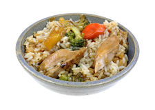 Teriyaki Chicken Rice Vegetables Bowl Stock Photography