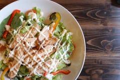 Teriyaki chicken salad Stock Image