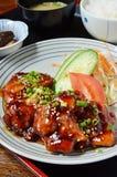 Teriyaki chicken set meal Stock Images