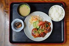 Teriyaki chicken set meal Royalty Free Stock Photo