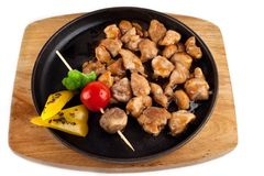 Teriyaki chicken with vegetables Royalty Free Stock Photos