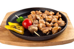 Teriyaki chicken with vegetables Royalty Free Stock Images