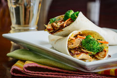 Teriyaki Chicken Wraps Stock Image