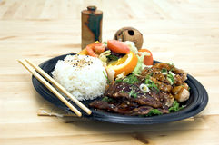 Teriyaki Combo Plate Stock Photo