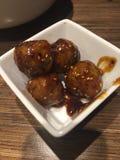 Teriyaki-Fleischklöschen Stockfotos
