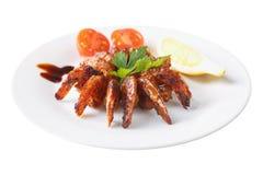Teriyaki fritado dos camarões Fotografia de Stock