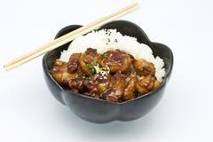 Teriyaki Huhn-Reis lizenzfreie stockbilder