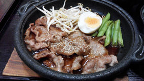 Teriyaki pork Stock Image