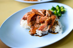 Teriyaki pork rice Royalty Free Stock Image