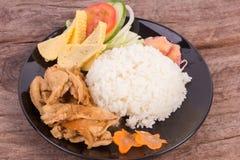 Teriyaki pork with rice Stock Image