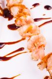 Teriyaki prawn skewers Royalty Free Stock Photography