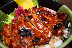 Teriyaki Rice Royalty Free Stock Photography
