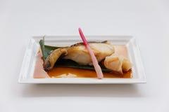 Teriyaki Sablefish : Fried Marinated Sable Fish with Teriyaki Sauce.  Stock Images