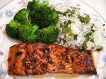 Teriyaki Salmon Royalty Free Stock Photography