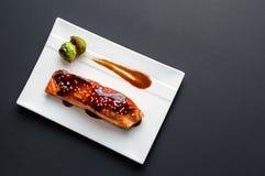 Teriyaki salmon from above. Royalty Free Stock Photo
